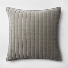 Channel Stitch Velvet Sham - Threshold Gray Standard 20x26