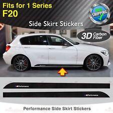 Für BMW F20 1er M Performance Seite Schweller  3D Kohlefaser Aufkleber Grafik