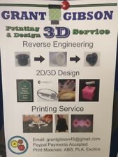 3D Printing Service - Can also offer 2D design