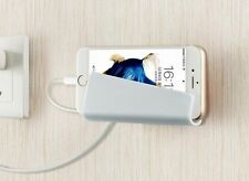 Wall charger holder cradle cell phone charging pocket shelf for all phones