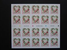 1999 Victorian Love  Cat # 3274a Twenty 33 Cent Stamp Booklet - MNH Plt # V2425
