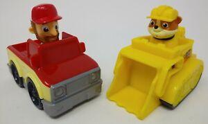 Paw Patrol: Lot of 2 Rescue Road Racers - Farmer (Truck) Al & Rubble (Bulldozer)