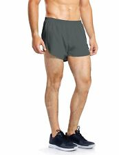 Baleaf Men Quick Dry Lightweight Pace Running Shorts Gray Small