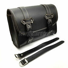 PU Leather Saddle Luggage Bag For Honda Shadow Spirit Aero Sabre VT750 VT1100
