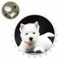 West Highland White Terrier Bottle Opener Fridge Magnet