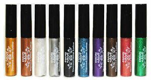 Diamond Glitter & Shimmer Style 10 Colors Liquid Eyeliner Eyeshadow Color Set