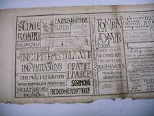 litho ancienne 1750 écriture manuscrit capitales lombardique traité diplomatique