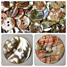 Lot 10 11.3mm 18L Natural 100% Abalone Shell Shirt Button Sewing Button Crafts