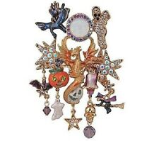 KIRKS FOLLY DRAGON SPIRIT SEAVIEW MOON HALLOWEEN PIN ENHANCER GOLDTONE