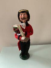 Byers Choice Victorian Adult Christmas Caroler Man Holding Present