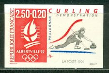 France Olympische Spiele Olympic Games 1992 Curling Imperforated stamp MNH