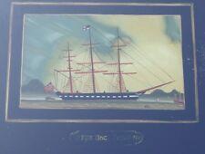 """Derrière générons """"barque Black prince"""", encadrés, rg 20x24,5 CM (252/12117)"""