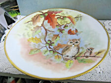 Bavaria Germany Tirshenreuth Decorative Collector's Bowl 2 Owls On Branch E.W.W.