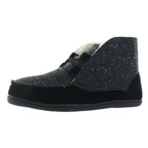 Minnetonka Womens Cozy Weekend Black Slip-On Slippers 10 Wide (C,D,W) BHFO 1471