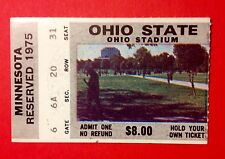 Ohio State Football 1975 Archie Griffin 2x Heisman Trophy Last Home Game Ticket