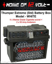 Thumper STD Battery Box White 4x Cigarette + 2x Anderson suit Volkswagon Amarok