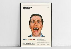American Psycho  Mary Harron  Vintage Retro Art Print, Minimalist Movie Poster