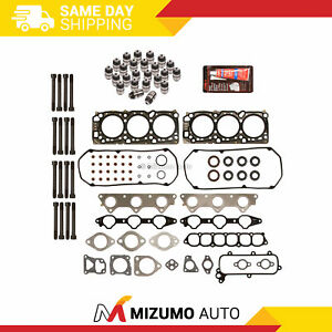 Head Gasket Set Bolts Lifters Fit 99-05 Mitsubishi Eclipse Galant Dodge 6G72