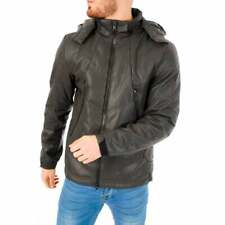 EA7 Mens Armani Poly Hooded Bomber Jacket (Grey/ Black)