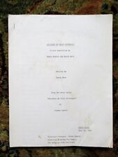 1983 UNPRODUCED SCREENPLAY of a TRUMAN CAPOTE STORY by DONNA KANTER while at AFI