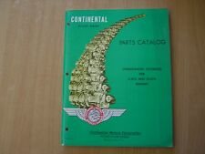Parts Catalog Parts Catalog Continental Aircraft Engines 0-470/10-470 02.1965