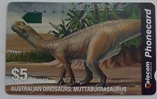 ATelstra Phonecard $5 Australian Dinosaurs MUTTABURRASAURUS Used Collectors Item