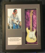 Fender Stratocaster Cream Off White Picture Woodstock Shadow Box