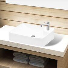 Keramik Waschschale Waschbecken Waschtisch Waschplatz mit Hahnloch wei�Ÿ/schwarz