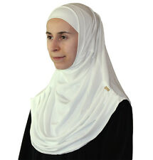 Turkish Ready Instant Firdevs Practical Scarf & Bonnet Hijab Ivory