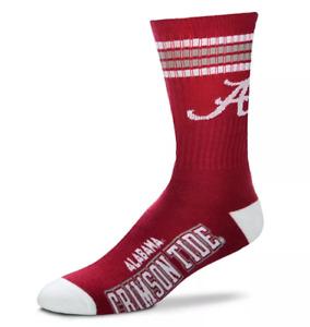 Alabama Crimson Tide 4 Stripe Deuce Crew Socks