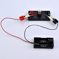 Kids Toy Student School Science Light Bulbs Electric Circuit Kit Educational DIY