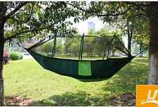 Strong Outdoor Parachute Hammock Swing Bed +Mosquito Net Set for Camp Yard Beach