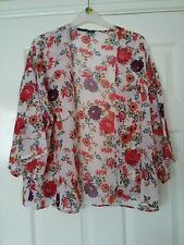 Atmosphere ladies cream floral polyester open top size XS