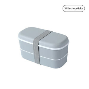 Double-layer Lunch Box Healthy Material Box Fresh-keeping Box With Chopsti *P