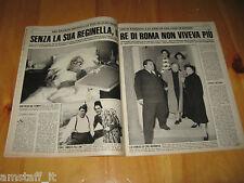 OGGI 1990/16=ALDO FABRIZI=FEDERICA MORO=LJUBA ROSA RIZZOLI=CLIIPING ARTICOLO=
