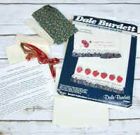 Vtg Dale Burdett Strawberry Tea Kitchen Towel Cross Stitch Kit Country Fabric