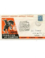 Calgary Stampede 1948 #8 cover with cachet, PO cancel and partial label