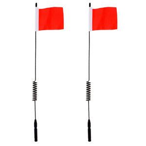 2Pcs Metal Antenna Decoration with Mini Flag for 1:10 RC Buggy Truck Car