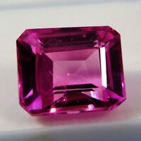 Natural Certified Emerald 13.80 CT 14 mm Pink Sapphire Loose Gemstone