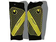 UHLSPORT PROTÈGE-TIBIAS avec chaussette de compression JAUNE Sockshield Lite -