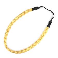 Signore/ragazze Capelli Sintetici Intrecciato Hairband/FASCIA (ORO)