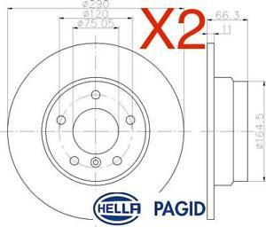 Rear Brake Discs 290mm 55610PRO fits BMW 1 Series F21 116i 118d