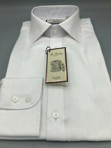 Thomas Pink, White Herringbone Shirt, UK:16, EU:41, BNWT, RRP:£115!