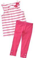 Gymboree Daisy Park 3T 4T Pink striped Shirt & Leggings Set Summer 15