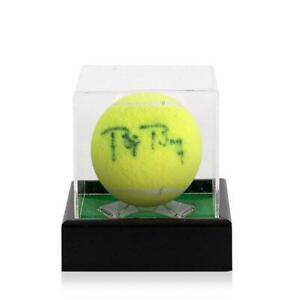 Bjorn Borg Signed US Open Tennis Ball In Acrylic Case Autograph