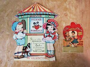 vintage children's valentine movie theater honeycomb side show