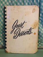 Vtg Just Desserts Cookbook Grace Presbyterian Church 1957 Mary Martha's 1950's