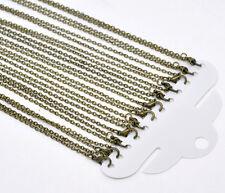 """Cadena De Bronce Antiguo Collares 18"""" vendido por paquete de 12 piezas"""