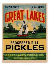 Vintage Can Label Great Lakes Dill Pickles Pittsburgh, PA