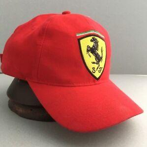 FERRARI ORIGINAL CUP HAT RED SCUDERIA EMBLEM TEAM F1 FORMULA 1 VINTAGE CAR